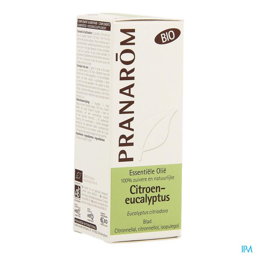 Eucalyptus Citroen Bio Ess Olie 10ml Pranarom