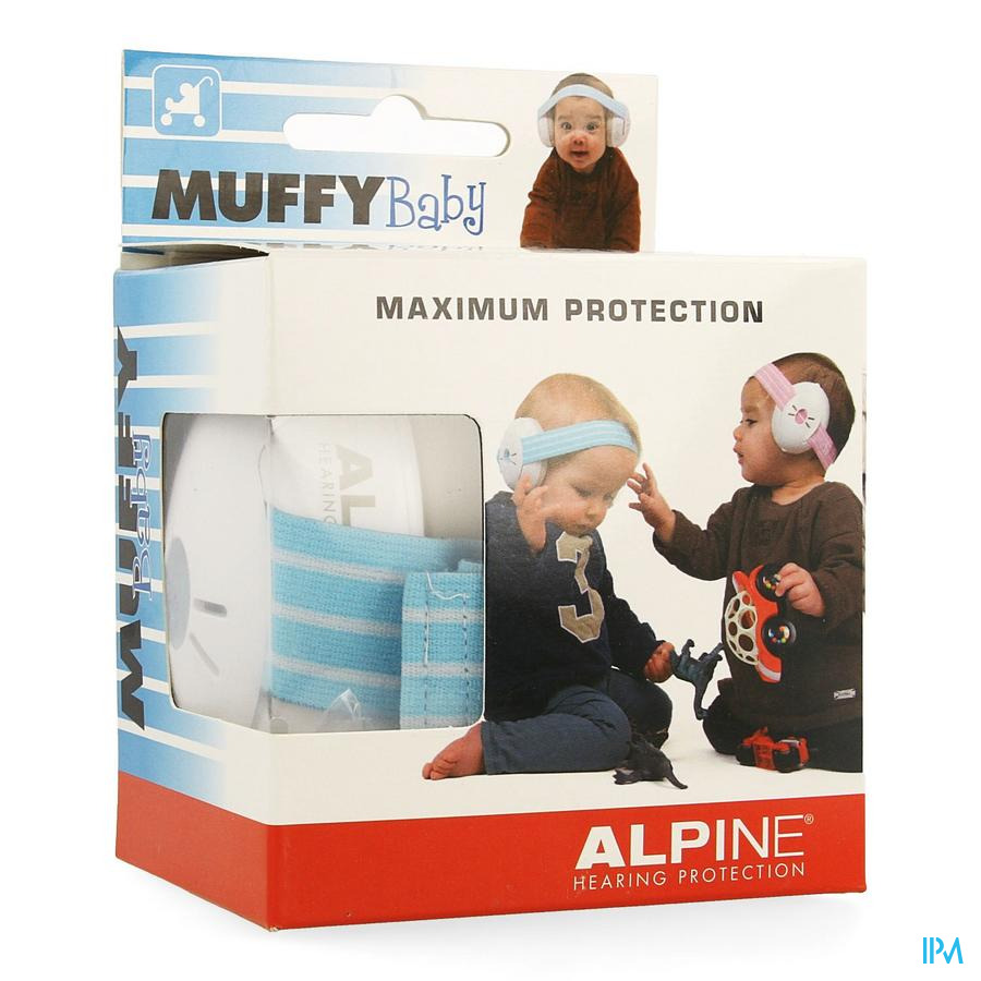 Alpine Muffy Casque Auditif Baby Bleu